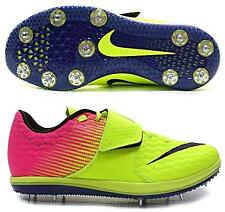 Nike Men's Zoom HJ High Jump Elite Spikes Shoes Volt Neon Pink Yellow Size 6.5