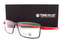 Brand New TAG Heuer Eyeglass Frames REFLEX 3 3902 002  Black/Red Men Women