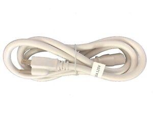 BYBON 10ft 18 AWG SJT Universal Power Cord for computer printer White UL