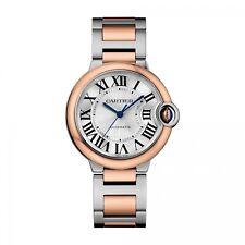 New Cartier Ballon Bleu 36 mm Steel and 18K Rose Gold Automatic Watch W2BB0003