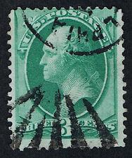 FANCY CANCEL ESTATE SCOTT #184 VIVID STRIKE 1884 PHILADELPHIA FAN & CDS CANCELS