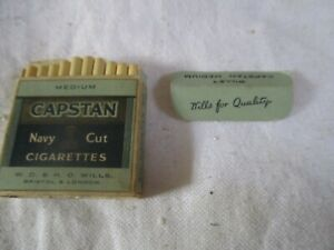 MINIATURE DOLLS HOUSE CIGARETTE PACKET AND DUMMY CONTENTS CAPSTAN NAVY CUT