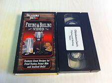Oklahoma Joe's Frying & Boiling Video VHS Great Recipes Fried Turkey Prime Rib