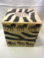 Swazi Kerze Zebra Afrika Fair Trade 9 x 9 cm