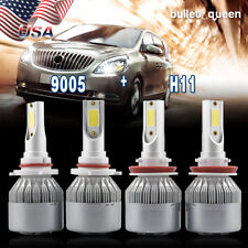 9005 H11 Combo LED Headlight Bulbs for 2009-2017 Dodge Ram 1500 2500 Hi/Lo Beam