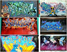 Original Graffiti street art paintings with YOUR NAME On Canvas Hand painted