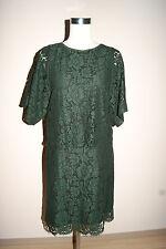 SET Kleid Gr. 36 OUISET Oui grün dunkelgrün Abendkleid Spitzenkleid Spitze NEU