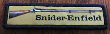 1x4 Snider Enfield Morale Patch Tactical Military Army Badge Hook Flag