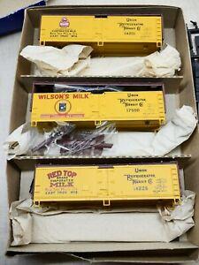 Athearn ATH 2329 HO Wood Side Milk Reefers Box Cars (Set of 3) LN/Box