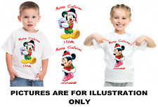 Personalised Mickey and Minnie Merry Christmas T Shirt