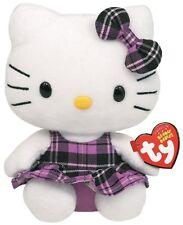 Hello Kitty Baby 15cm Plüsch Schottenrock lila Kuscheltier Geschenk Neu 7140901