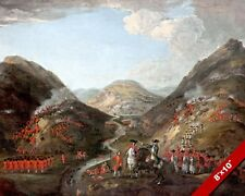 BATTLE OF GLEN SHIEL PAINTING SCOTLAND JACOBITE BRITISH WAR ART CANVAS PRINT