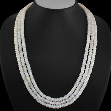 502.00 Cts Natural Round Shape Blue Flash Moonstone Beads 3 Strand Necklace