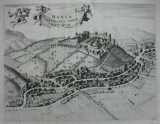 Original antique print 'MANTA SALUTIARUM', ITALY, PIEDMONT, CUNEO, Alberts, 1726