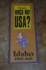 "Highlights Which Way Usa? Idaho State Map ""Vgc"""