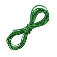 1 mm hoja verde hilo encerado poliester plana Puntilla macramé Cable 1 metros (D54/2)