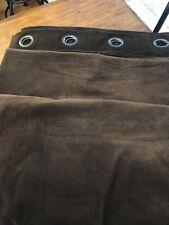 2 Pottery Barn Chocolate Brown Velvet Grommet Drapes panels 50x96 (4 avail) Mint