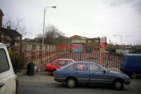 PHOTO  1991 FORMER MUSWELL HILL BUS GARAGE (2) TAKEN FROM HAMPDEN ROAD THIS PHOT