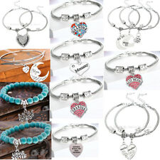Family Charm Bracelet For Mother Grandma Sister Friend Women Silver Jewelry Gift