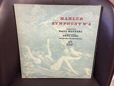 Mahler Symphony No. 4 Paul Kletzki/Loose EX LP Angel Philharmonia Orchestra