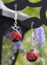 Ladybird dangle earrings