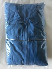 ADIDAS TRACKSUIT RUNNING SUIT BLUE TOP JACKET AND GRAY PANTS FOR MEN SIZE LARGE