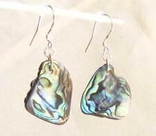 BWT- New Zealand Paua/Abalone Sea Shell Surgical Steel Earrings- Erg1044, Beach
