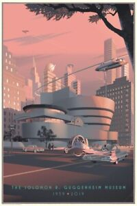 The Guggenheim - Screen Print By Laurent Durieux - Nt Mondo SOLD OUT