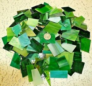 3 LB GREEN TONE Mixed Value Pack - Stained Glass / Mosaics