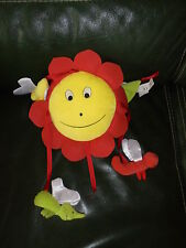 Suspension Mobile Ikéa Doudou Soleil Fleur Jaune Rouge Etat Neuf