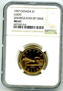 1997 CANADA $1 LOON NGC MS67 UNCIRCULATED LOONIE TOP POP ONLY 1 KNOWN EX RARE