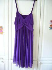 Sommerkleid, Trägerkleid, Chiffon ,festliches Kleid in Lila Gr. 48/50
