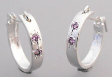Silver Plated Amethyst Fashion Earrings