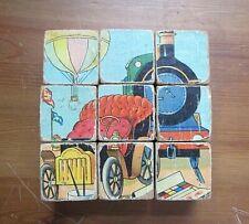 New ListingVintage/Antique Toy Children's Wooden Picture Blocks Lot of 9