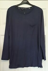Ladies M&S Long Sleeved Longline Stretchy Top Size 14 BNWT