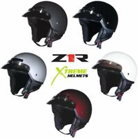 Z1R Drifter Helmet Half Speaker Pockets Neck Curtain DOT 2XS XS S M L XL 2XL