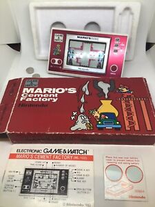 Nintendo Game And Watch Marios Cement Factory Boxed Instructions  (ml-102)