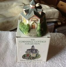 "The Cornwall Cottage Hand Painted Cold Cast Porcelain ""Silver Spoon tea Room"""