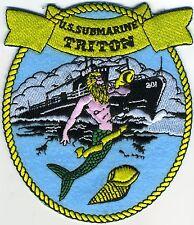 USS Triton SS 201 - Merman/Submarine - WW II Lost Boat BC Patch Cat No C5701