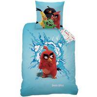 """Wende Bettwäsche Set Angry Birds App Movie 135x200 80x80cm """"Red"""" 100% Baumwolle"""