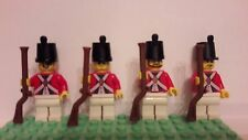 Lot of 4 LEGO U.S. Revolutionary War Redcoat Infantry Minifigures (Lot 1A111)