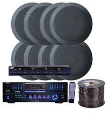 NEW Pyle KTHSP85DVBK 4 Room Home In-Ceiling Speakers W/DVD/MP3 Amp System