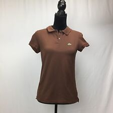 Lacoste Solid Brown Collar Neck 40