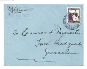 PALESTINE-WWII CRESTED MILITARY ENVELOPE TO JERUSALEM EX F.P.O 124 DATED 7.9.40