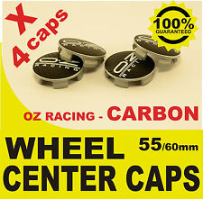 tapas llantas  ruedas wheel center caps OZ RACING CARBONO NEGRO 55mm 60mm 4x