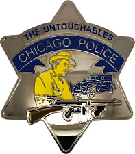 CHICAGO POLICE FAKE NOVELTY PIE PLATE STAR BADGE - The Untouchables