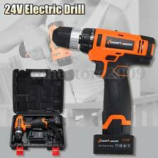 24V Electric Cordless Hammer Drill Driver Lithium Ion 0-1450R/MIN Speed