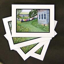 Wash Day Monhegan Island - Note Cards