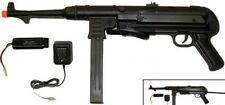 German MP40 Style Metal Gearbox Auto Electric Airsoft Gun 350 FPS Black