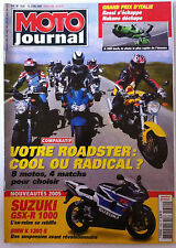MOTO JOURNAL du 10/06/2004; Comparatif Roadster/ Suzuki GSX-R 1000/ GP Italie